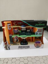 DISNEY ZOOTOPIA POLICE STATION TOMY PLAYSET KIDS TOY 2 FIGURES HELICOPTER NEW