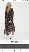 Topshop floral black maternity dress Size 10