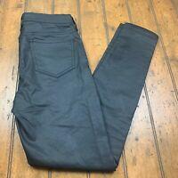 Gap Womens Coated Leggings Skinny Jeans Size 8/29R True Black Stretch Pants
