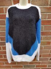 NEW £295 Joseph Mohair Intarsia Colourblock Jumper Sweater Top Size L 12 14 40