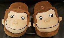 EUC CURIOUS GEORGE slippers boy / girl size small 5-6 youth KID CHILD UNISEX