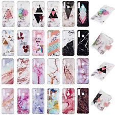 Marble Crack Soft TPU Phone Case Cover For Huawei Enjoy 9 Nova 4 P30 P30 Pro