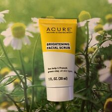 1 Acure Brightening Facial Scrub 1 Fl Oz Travel Size Sealed Under Cap Free Ship