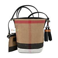 NWT Authentic Burberry Mini Ashby Canvas Check Cross Body Bag