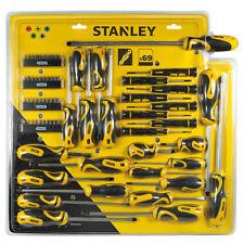 Stanley set 69pz giraviti cacciaviti inserti cricchetto precisione stht0-62139