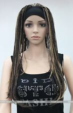 Brown with some Blonde unique Man-made braids 3/4 half wig with headband FTLG019