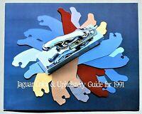 ORIGINAL 1991 JAGUAR COLOR & UPHOLSTERY GUIDE ~ REAL PAINT & UPHOLSTERY ~ 91JAGC