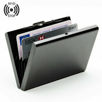 Men's RFID Blocking Stainless Steel Security Case Credit Card Holder Slim Wallet