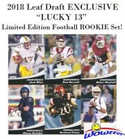 2018 Leaf Draft EXCLUSIVE Lucky 13 LE ROOKIE Set-Mayfield,Darnold,Allen,Rosen++