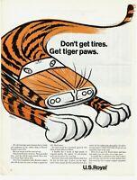 1964 ORIGINAL VINTAGE US ROYAL TIRE MAGAZINE AD