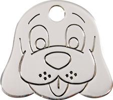 médaille plate acier inoxydable gravée pour petit chien red dingo