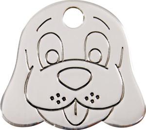 médaille gravée acier inox red dingo petit chien