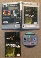 Tom Clancy's Splinter Cell- Platinum (Sony PlayStation 2, PS2, 2003)