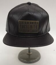 Rocksmith Brown Leather Quilted Stitching Strapback Adjustable Sample Nice New