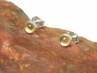 CITRINE  Sterling  Silver   925  Gemstone  Earrings / STUDS  -  4 mm