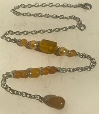 Yellow Cats Eye And Honey Agate Car Charm Rear View Mirror Decor 239