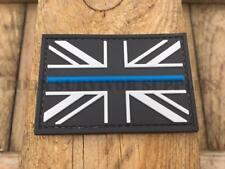 THIN BLUE LINE UNION JACK PVC RUBBER PATCH - Black Police Morale Tactical Badge