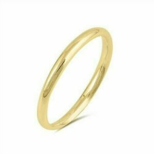 Toe Ring Genuine Sterling Silver 925 Yellow Gold Plated Width 2MM Selectable