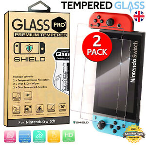 2 PACK PRO+ PREMIUM TEMPERED GLASS Screen Protector For NINTENDO SWITCH Console