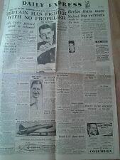 EXPRESS NEWSPAPER WORLD WAR 2. Jan 7th 1944. Britain has fighter Whittle Jet