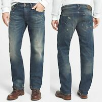 NWT $198 Diesel Regular Straight Leg Distressed Jeans