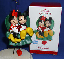 Hallmark Ornament Disney Mickey Mouse Two To A Chair 2013 Love Minnie Movement