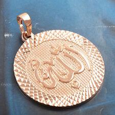 Arab 18k Rose Gold Filled round Allah Pendant  Free shipping Free Shipping