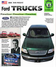 Ford Truck Timeline History Mini-Brochure:F-1,F-100,150,Lightning,250,Super Duty