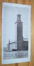 STOCKHOLM - Schweden # 1925 Reise-Werbung Broschüre
