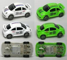 2005 JWL HO 1/64ish American Release Modern VW BUG Matched Pair Slot Race Cars