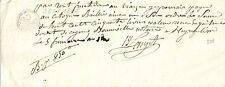 PAPIER ANCIEN PARCHEMIN PROMESSE DE PAIEMENT CESSION DE CREANCES 1805