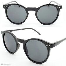 Redonda Negra ojo de cerradura de los años 60 vintage diseñador estilo Oscuro Lente círculo Gafas De Sol