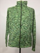Women's COLUMBIA XL Fitted Light Weight Jacket Thumb Loops Green