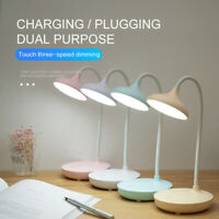 Touch Sensor Dimmable USB Powered LED Desk Table Bedside Reading Lamp Lights