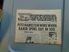 Illustrated Speedway News April 14 1970 Pete Hammilton