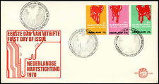 Netherlands 1970 Heart Foundation FDC First Day Cover #C27441