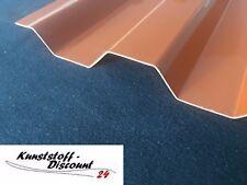 Spundwand Lichtplatte ziegelrot Polycarbonat Trapez Profil 76/18 RESTPOSTEN