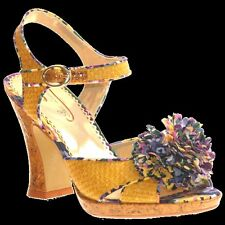 POETIC LICENCE 4 Irregular Choice Floral Yellow WOMENS PUMPS HIGH HEELS SIZE 10