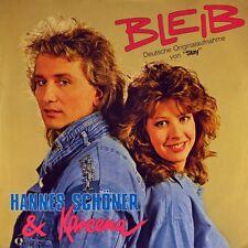 """7"""" HANNES SCHÖNER & KAREENA Bleib BONNIE BIANCO PIERRE COSSO Stay Cinderella'87"""