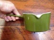 Vtg Copco Michael Lax Denmark Avocado Green Enamel Cast Iron Small Sauce Pan Pot