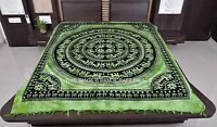 Indian Tapestry Hippie Throw Queen Size Wall Hanging Elephant Mandala Bedspread
