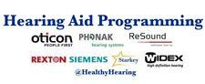 Hearing Aid Programming - Phonak, Signia, Starkey, Oticon, Resound, Unitron