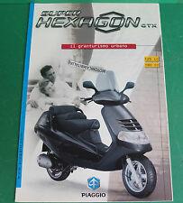 PIAGGIO GTX HEXAGON GTX 125 180 SCOOTER PUBBLICITA DEPLIANT BROCHURE CATALOGUE