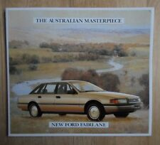 FORD FAIRLANE orig 1988 large format sales brochure - Australia