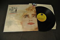 LP 33 ost Madonna Who's That Girl Sire 92 5611-1 Italy 1987