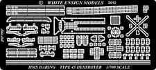 White Ensign Models 1/700 #PE7097 HMS Type 45 Destroyer Etching Parts for Dragon