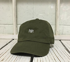 NEW PAPI EMBROIDERED POLO BASEBALL HAT HIP HOP CAP OLIVE GREEN