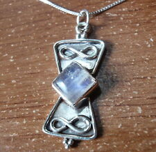 Blue Moonstone Pendant Sterling Silver Infinity Sign Symbolizes Everlasting Love
