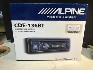 Alpine CDE-136BT Bluetooth Receiver Pandora Plus NIB