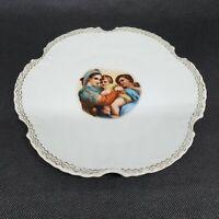 """Antique Z S & Co Plate Marseille Bavaria 7""""d Madonna and Child Portrait 1920s"""